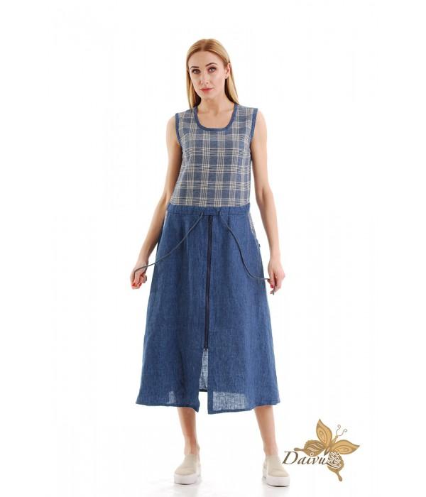 Lininė suknelė N10