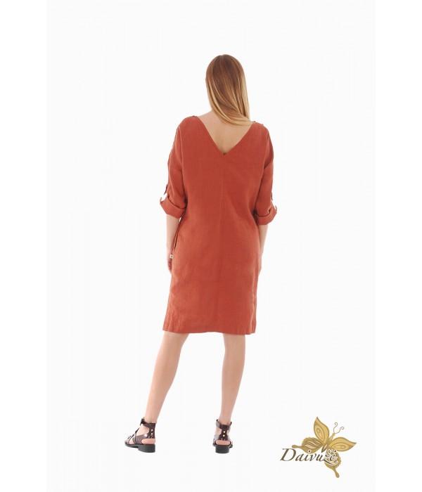 Lininė suknelė ZL83-3
